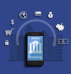concept for mobile banking and online payment vector image