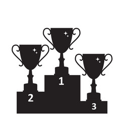 concept on success gold trophy cup award icon vector image