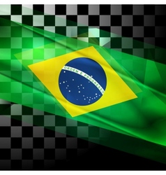 Design of brazilian flag vector