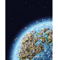 Global Pollution vector image vector image