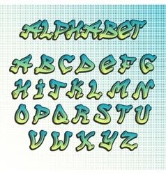 Graffity grunge font alphabet vector image vector image
