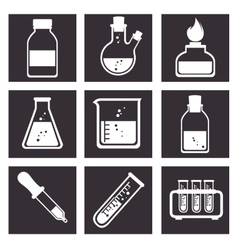 Laboratory tools tube icons design vector