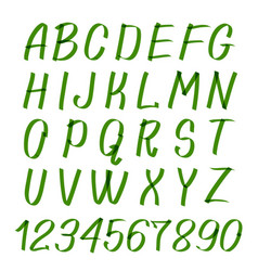Marker hand written symbols letters and vector