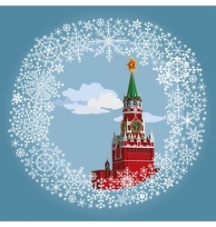 Moscow Kremlin in frameRussia vector image