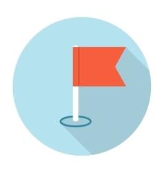 Navigation flag icon vector image vector image