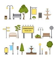 Outdoor object set vector