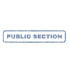 public section textile stamp vector image vector image