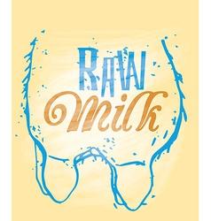 Raw milk vector