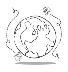 save world from bad environment vector image vector image