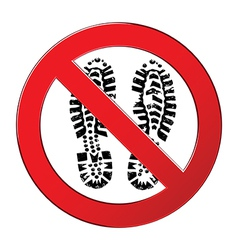 sign forbidden shoe vector image
