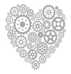 Srce gear2 vector image vector image