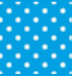 Sun pattern seamless blue vector