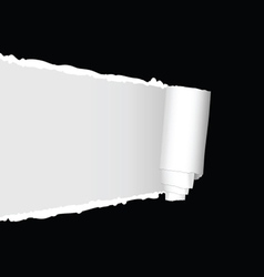 Tearing paper vector