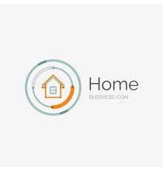 Thin line neat design logo home idea vector image