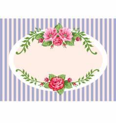 vintage rose frame vector image