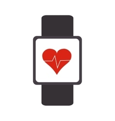 Heartbeat monitor wristband icon vector