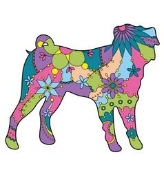 Pug dog colorful vector