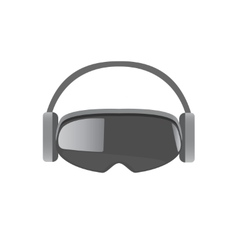 Virtual Headset vector image