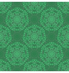Elegant seamless pattern with floral and mandala vector
