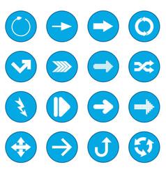 Arrow sign black icon blue vector