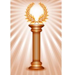 Column laurel bronze vector image