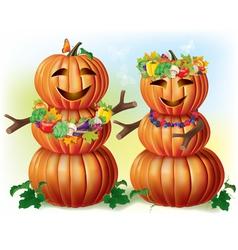 Pumpkin lovers vector image