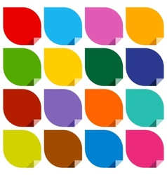 16 colored blank stickers vector image vector image
