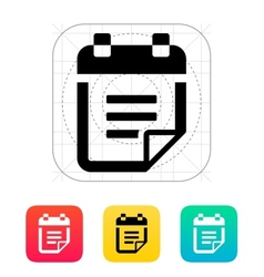 Notepad with text icon vector