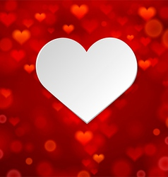 White heart on background vector image