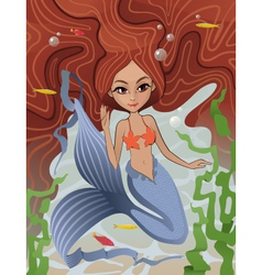 Mermaid siren of the sea vector