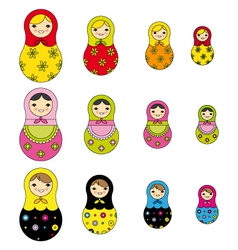 Russian doll vector
