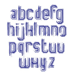 Lowercase calligraphic brush letters hand-painted vector