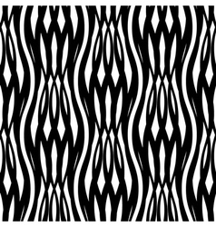 Abstract monochrome seamless pattern crossed vawes vector