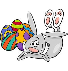 Easter bunny cartoon character vector