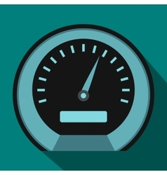 Speedometer icon in flat style vector