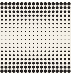Seamless Black and White Circles Horizontal vector image