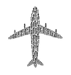 arrow in airplane vector image vector image