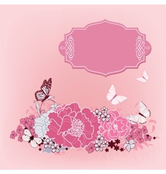 background for the design of flowers vector image vector image