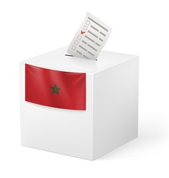 Ballot box with voicing paper morocco vector