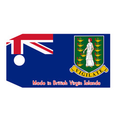 British virgin islands flag vector