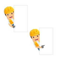 cartoon builder vector image vector image