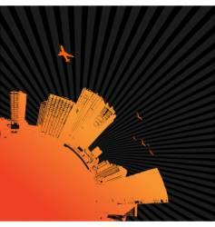 city quarter vector image