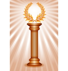 Column laurel bronze vector image vector image