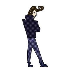 comic cartoon cool guy vector image vector image