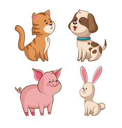 Cute collection wildlife image vector