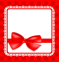 delicate card with bow vector image vector image