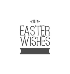 Easter wishes sign - happy easter easter wish vector