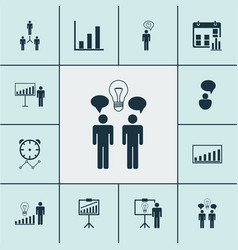 executive icons set collection of decision making vector image