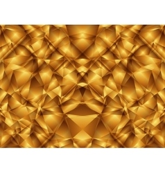 Gold cristal pattern vector