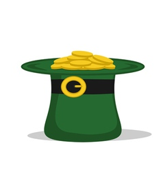 green hat with coins vector image